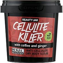 Perfumería y cosmética Exfoliante corporal anticelulítico con polvo de café y jengibre - Beauty Jar Anti-Cellulite Dry Body Scrub, Cellulite Killer