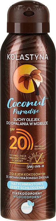 Aceite protector solar con aroma a coco - Kolastyna Coconut Paradise Oil SPF20