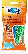 Perfumería y cosmética Cepillos interdentales infantiles, 40uds. - DenTek Kids Fruit Fun Flossers