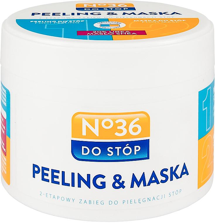 Mascarilla para pies bifásica - Pharma CF No.36 Peeling & Mask