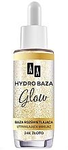 Perfumería y cosmética Prebase de maquillaje con oro de 24k - AA Hydro Baza Glow