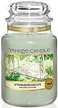 Perfumería y cosmética Vela aromática en tarro, ciprés, jazmín, limón y cedro - Yankee Candle Afternoon Escape