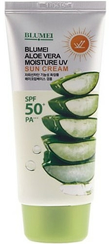 Crema para rostro y cuerpo con jugo de aloe vera SPF50 - Blumei Jeju Moisture Aloe Vera Sun Cream