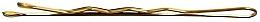 Perfumería y cosmética Horquillas planas doradas, 4cm - Lussoni Waved Hair Grips 4 cm Golden