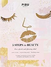 Perfumería y cosmética Mascarilla facial en 3 pasos con extracto de plantas y vitamina C - Pibu Beauty 3 Steps To Beauty Mask