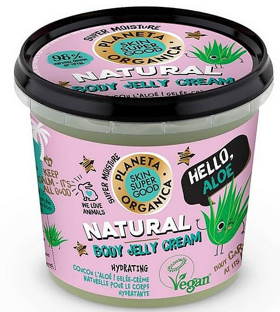 Crema gelatina corporal natural con aloe - Planeta Organica Natural Body Jelly Cream Hello Aloe