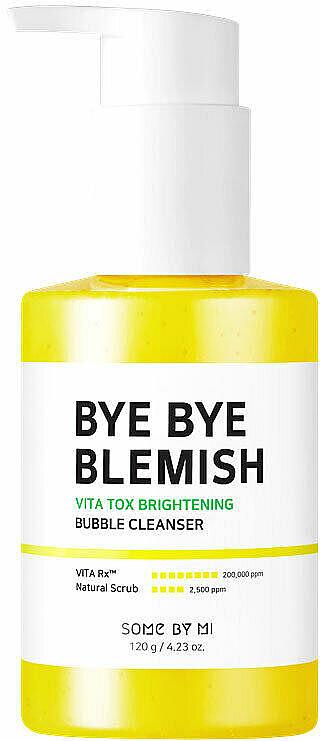 Gel iluminador de limpieza facial con burbujas y extracto de yuzu - Some By Mi Bye Bye Blemish Vita Tox Brightening Bubble Cleanser