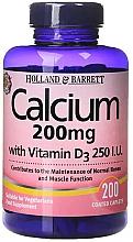 Perfumería y cosmética Complemento alimenticio de Calcio con Vitamina D3, en cápsulas - Holland & Barrett Calcium with Vitamin D3 200mg