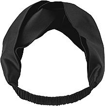 Perfumería y cosmética Cinta de pelo de seda natural, color negro - Makeup Hairband Twist Black