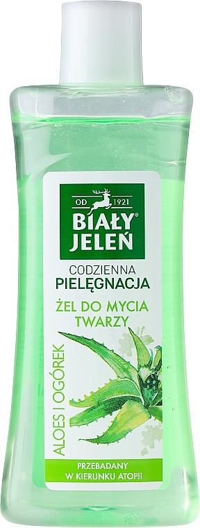 Gel hipoalergénico de limpieza facial con extractos de aloe y pepino - Bialy Jelen Hypoallergenic cleanser Aloe And Cucumber