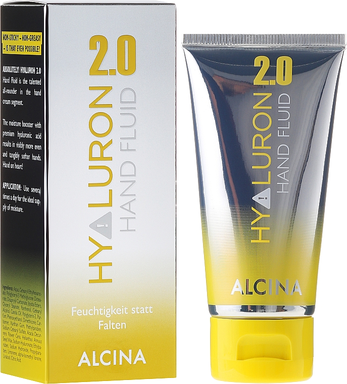 Fluido de manos con ácido hialurónico y aceite de canola - Alcina Hyaluron 2.0