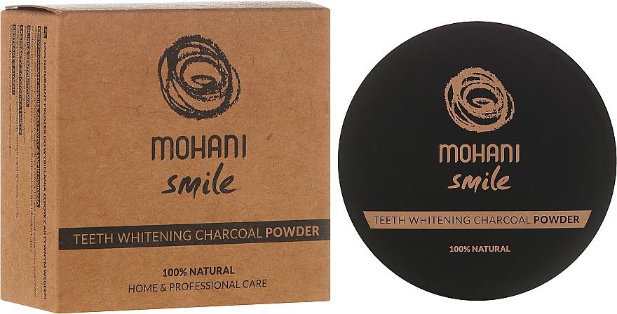 Polvo dental blanqueador de carbón - Mohani Smile Teeth Whitening Charcoal Powder