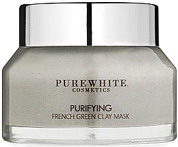 Perfumería y cosmética Mascarilla facial purificante con arcilla verde francesa - Pure White Cosmetics Purifying French Green Clay Mask