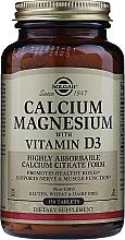 Perfumería y cosmética Complemento alimenticio de Calcio y Magnesio con Vitamina D3, en tabletas - Solgar Calcium Magnesium with Vitamin D3