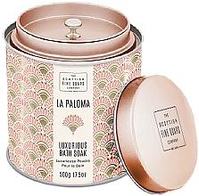 Perfumería y cosmética Scottish Fine Soaps La Paloma - Polvo de baño perfumado nutritivo y relajante con aroma afrutado y floral