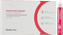 Perfumería y cosmética Fillers reparadores de cabello con ceramidas - FarmStay Ceramide Damage Clinic Hair Filler