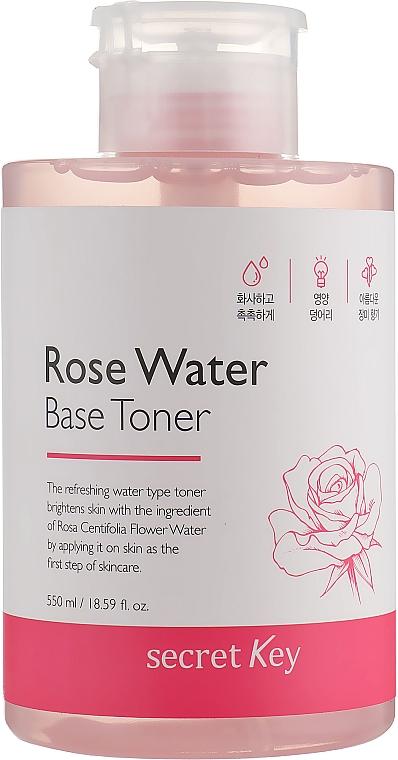 Tónico facial refrescante con agua de rosa - Secret Key Rose Water Base Toner