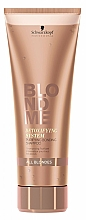 Perfumería y cosmética Champú con aceite de marula y queratina - Schwarzkopf BlondMe Detoxifying System Purifying Bonding Shampoo