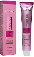 Perfumería y cosmética Tratamiento colorante en crema para cabello sin amoníaco - Brelil Professional Prestige Tone On Tone