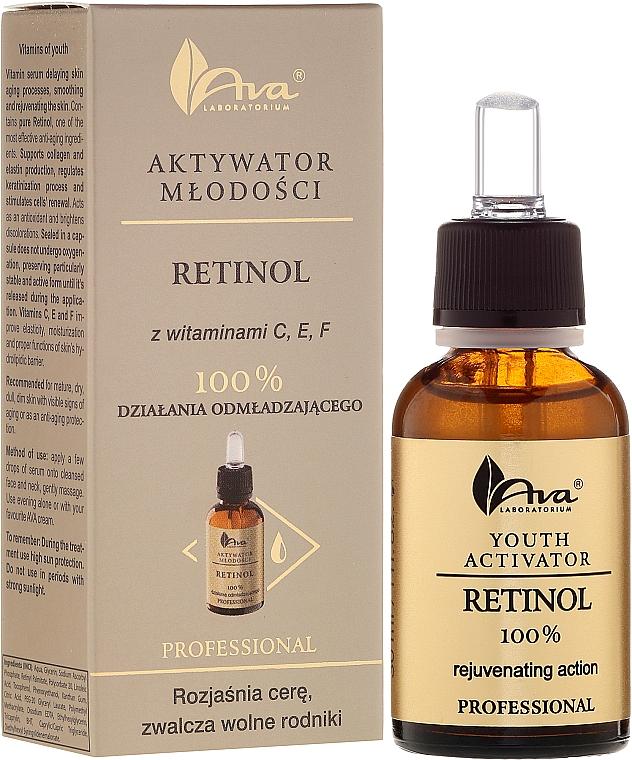 Sérum facial rejuvenecedor con retinol puro y vitaminas C, E y F - Ava Laboratorium Youth Activators Serum