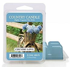 Perfumería y cosmética Cera para lámpara aromática con aroma a almizcle & rosa - Country Candle Country Love Wax Melts