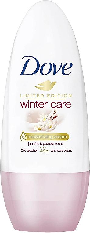 Desodorante antitranspirante roll-on con aroma a jazmín y polvo, sin alcohol - Dove Deo-Roll-on Winter Care