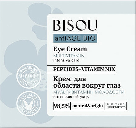 Crema contorno de ojos con complejo vitamínico - Bisou AntiAge Bio Eye Cream