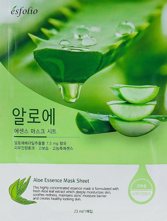 Mascarilla facial de tejido con extracto de hoja de aloe vera - Esfolio Aloe Essence Mask Sheet