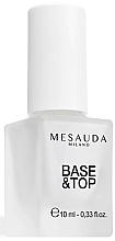 Perfumería y cosmética Base & Esmalte para capa superior de uñas con UV Filter - Mesauda Milano Base & Top Coat Nail Polish 101