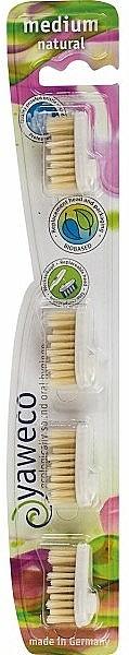 Cabezal reemplazable para cepillo de dientes - Yaweco Replaceable Toothbrush Brush Heads Natural Medium