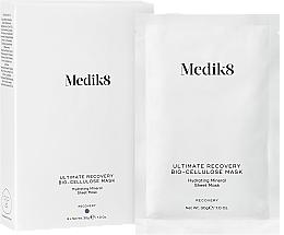 Perfumería y cosmética Mascarilla facial de tejido hidratante con biocelulosa y ácido hialurónico - Medik8 Ultimate Recovery Bio-Cellulose Mask