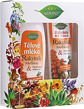 Perfumería y cosmética Set - Bione Cosmetics Sea Buckthorn (leche corporal/500ml + bálsamo de manos/205ml)