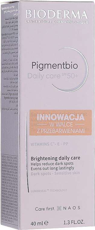 Crema de día antipigmentante con vitamina C, E y B3 - Bioderma Pigmentbio Daily Care Brightening Daily Care SPF 50+