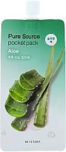 Perfumería y cosmética Mascarilla de noche con extracto de aloe vera - Missha Pure Source Pocket Pack Aloe