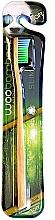 Perfumería y cosmética Cepillo dental suave con madera de bambú, verde y azul - Woobamboo Toothbrush Slim Soft