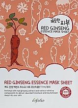 Perfumería y cosmética Mascarilla facial de tejido nutritiva con extracto de ginseng rojo - Esfolio Pure Skin Red Ginseng Essence Mask Sheet