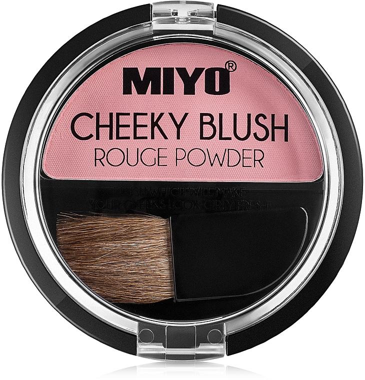 Colorete para acabado satinado con mini brocha - Miyo Cheeky Blush Rouge Powder — imagen N1