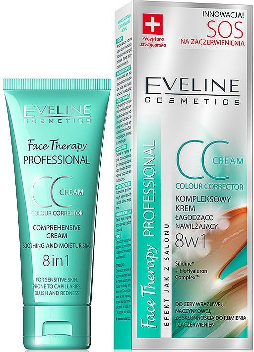 CC crema facial hidratante para pieles sensibles - Eveline Cosmetics Therapy