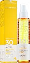 Perfumería y cosmética Aceite en bruma de protección solar para cabello y cuerpo, SPF 30 - Clarins Huile-en-Brume Solaire SPF 30