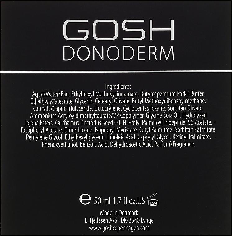 Crema facial antiedad con complejo peptídico y vitamina E - Gosh Donoderm Anti Wrinkle Cream Prestige — imagen N3