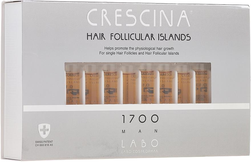 Tratamiento en ampollas estimulador del crecimiento de cabello para hombres 1700 - Crescina Hair Follicular Islands Re-Growth 1700