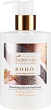 Perfumería y cosmética Crema hidratante para manos y uñas con manteca de karité & vitamina E - Bielenda Professional Nailspiration Boho Moisturising Hand & Nail Cream