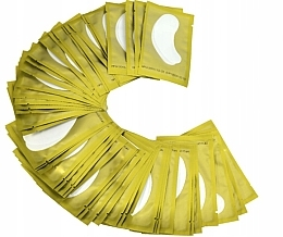 Perfumería y cosmética Parche de gel para extensión de pestañas, dorado - Lewer Lint Free Under Eye Gel Patches For Eyelash Extensons