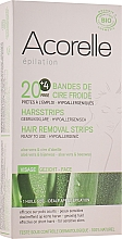 Perfumería y cosmética Bandas depilatorias faciales de cera fría con cera alba y extracto de aloe vera - Acorelle Hair Removal Strips