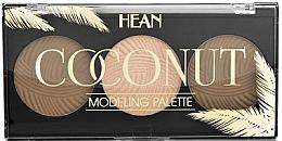 Perfumería y cosmética Paleta de maquillaje con aroma a coco (bronceador x2uds. e iluminador x1ud.) - Hean Coconut Palette