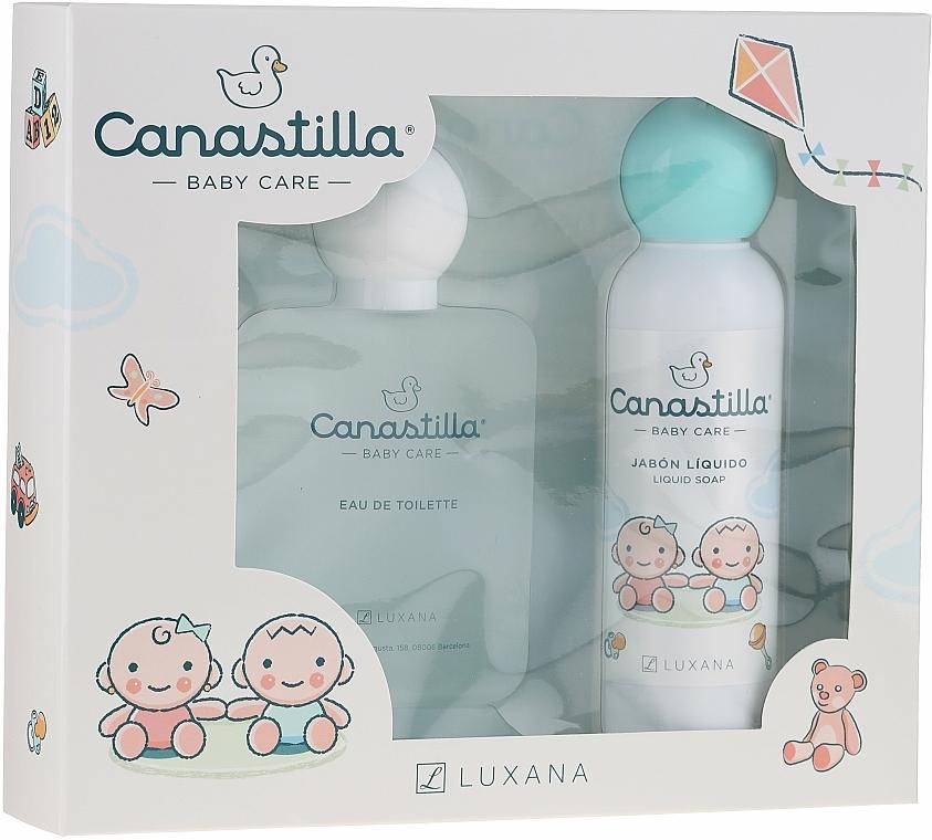 Luxana Canastilla - Set para bebés (eau de toilette/100ml + jabón líquido/150ml)