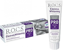 Perfumería y cosmética Pasta dental blanqueadora para cepillos eléctricos - R.O.C.S. Pro Electro & Whitening Mild Mint