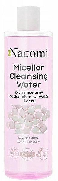 Agua micelar con ácido hialurónico y extracto de aloe - Nacomi Micellar Cleansing Water Marshmallow