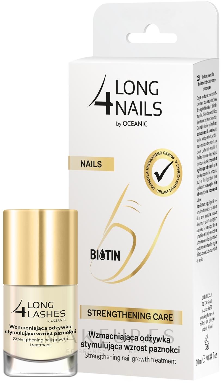 Sérum de uñas intensivo fortificante con aceite de almendras dulces - Long4Lashes Intensive Strenghtening Nail Serum — imagen 10 ml