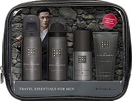Perfumería y cosmética Set para hombres - Rituals The Ritual of Samurai Essentials Travel Set (espuma de ducha/50ml + espuma de afeitar/50ml + crema facial/30ml + desodorante/50ml + neceser cosmético)